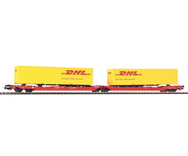 Piko 54774 Zsebeskocsi T3000e Sdggmrss738, DHL félpótkocsikkal, DB AG VI