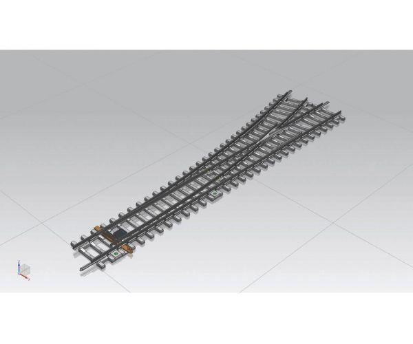 Piko 55170 Egyenes váltó, betontalpfás, 15, balos, kézi WR