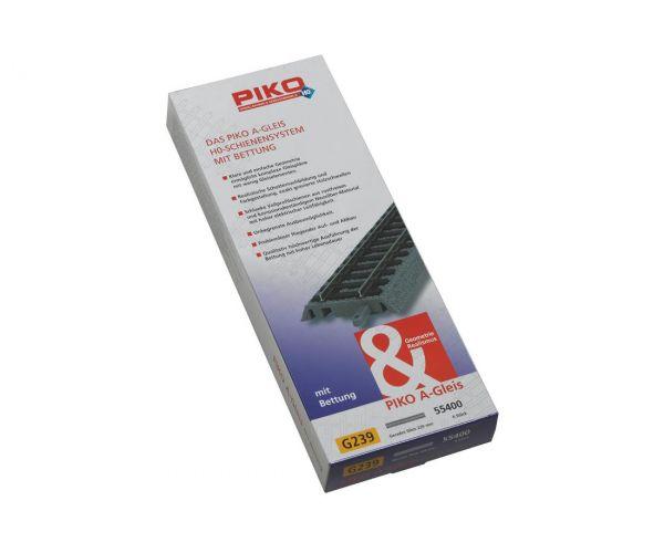 PIKO 55400 Piko A ágyazatos egyenes sín, G239, 239 mm, 1db