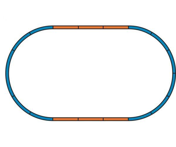 PIKO 57196 Kezdőkészlet, ICE 3 motorvonat, DB AG V, ágyazatos sínnel