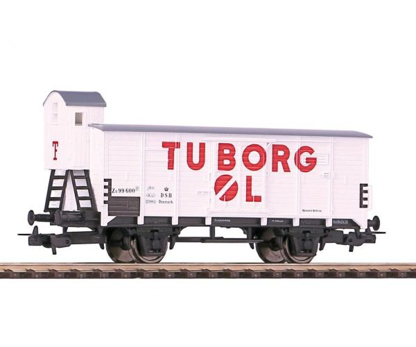 Piko 58909 Zárt teherkocsi fékházzal G02, Tuborg-Carlsberg, DSB III