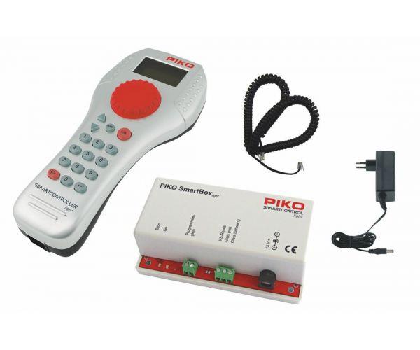 PIKO 59013 SmartControl light dupla digitális kezdőkészlet személyvonat + tehervonat, ágyazatos sínnel