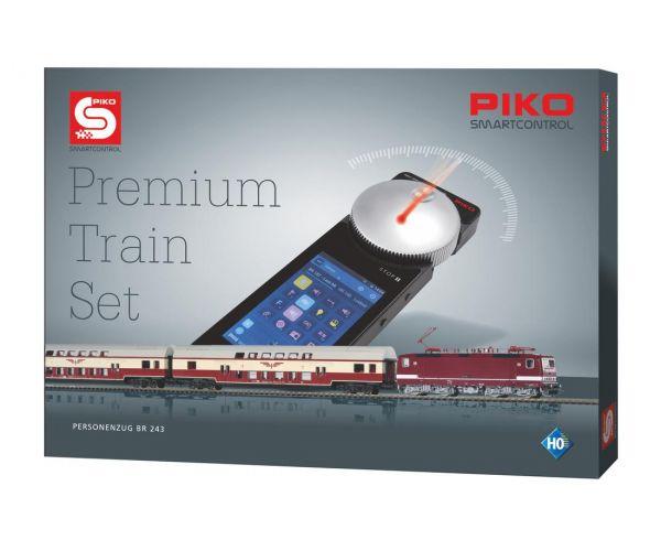 Piko 59117 PIKO SmartControl Premium Train Set BR 243 villanymozdony emeletes Sputnik személykocsikkal, hangdekóderrel, DR IV