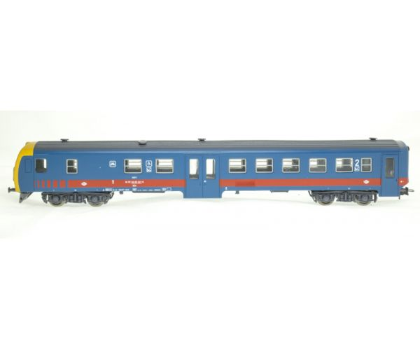 QuaBLA 21314 Posta ingavonat elővárosi szerelvény, BDt vezérlőkocsi Bhv személyvagonnal, MÁV V