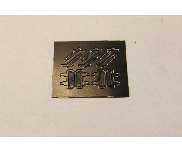 QuaBLA 90001 Ablaktörlő és tükör szett V63 Gigant villanymozdonyhoz