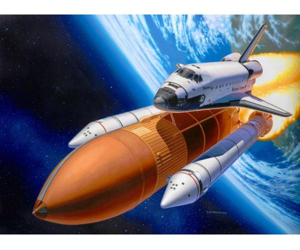 Revell 04736 Space Shuttle Discovery & Booster Rockets 1:144