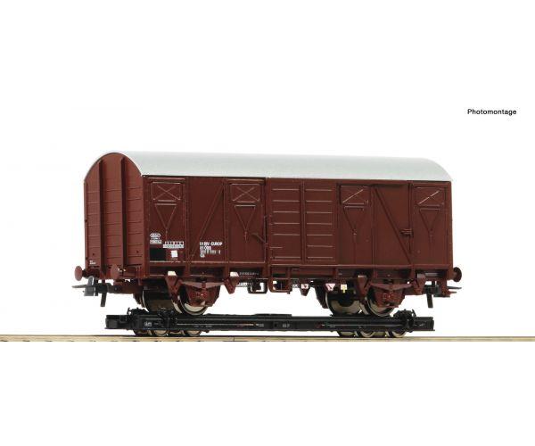 Roco 34575 Rollwagen Gs teherkocsi-rakománnyal, ÖBB III-IV