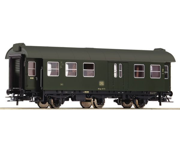 Roco 54293 Személykocsi 2.o. poggyászszakasszal BD3yge, umbauwagen, DB IV