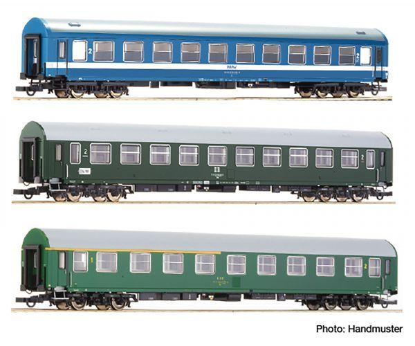 Roco 64196 Személykocsi szett D270 Meridian Express #2, MÁV/DR/CSD IV