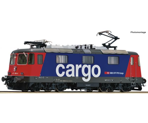 Roco 73257  Villanymozdony Re 421 389-8, SBB Cargo VI, hangdekóderrel