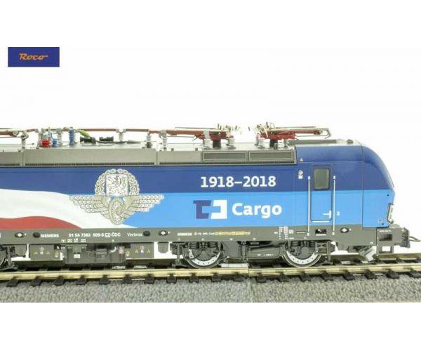 Roco 73945 Villanymozdony BR 193 383 009 Vectron, 1918-2018 festés, CD Cargo VI