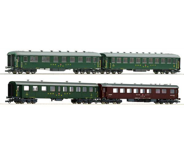 Roco 74126 Gyorsvonati kocsiszett Inlandswagen, SBB III-IV
