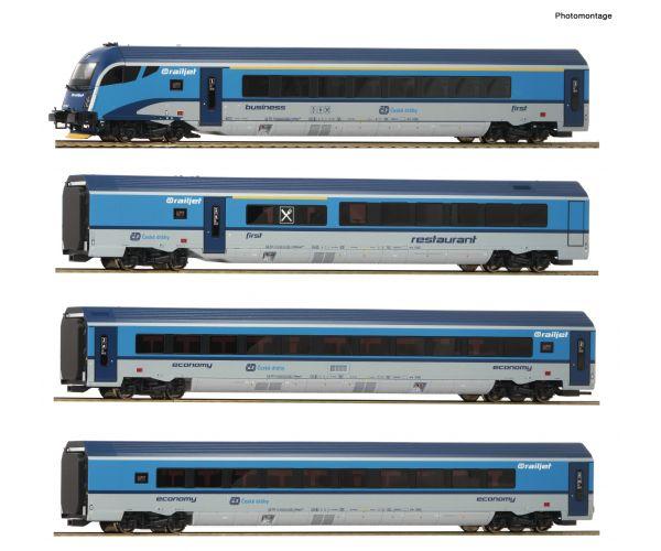 Roco 74142 Személykocsi szett vezérlőkocsival Railjet, CD VI