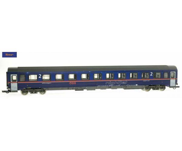 Roco 74340 Személykocsi 2.o. Bmz, Nightjet, ÖBB VI, 2. pályaszám