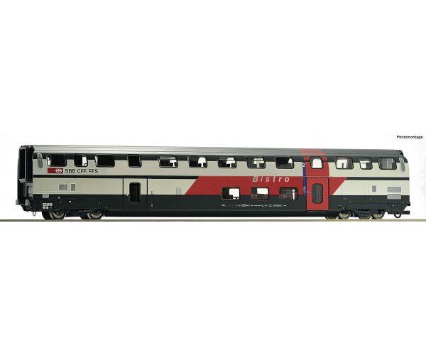 Roco 74504 Emeletes étkező- és bisztrókocsi BR, IC 2000, SBB VI