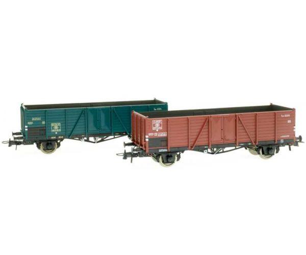 Roco 76102 Nyitott teherkocsi szett type 1221, Villach-dizájn, SNCB III