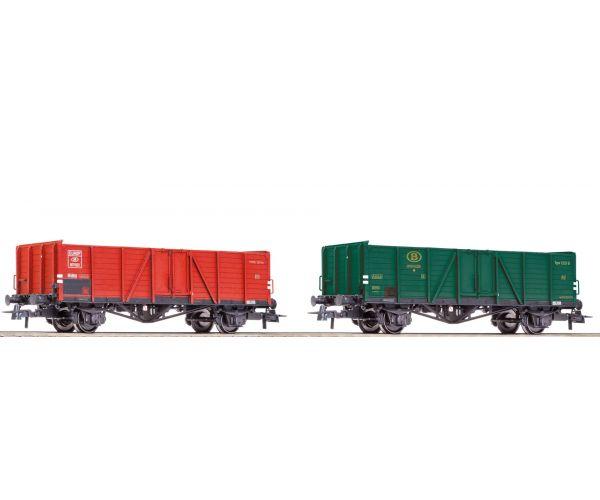 Roco 76102 Nyitott teherkocsi szett typ 1221, Villach-dizájn, SNCB III