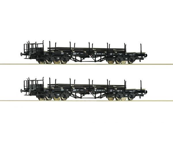 Roco 76196 Pőrekocsi szett sínszálrakománnyal, DR III