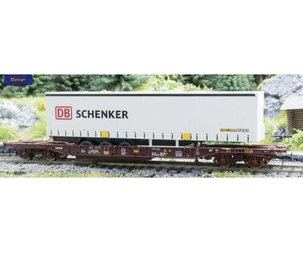 Roco 76220 Zsebeskocsi T3 Sdgmns 33, DB Schenker félpótkocsival, AAE VI