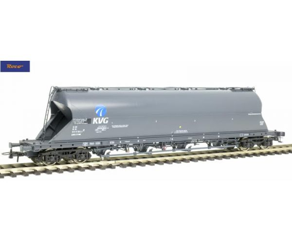 Roco 76701 Poranyagszállító silókocsi Uacs, KVG, DB AG V