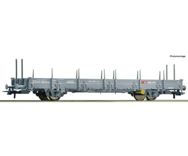 Roco 76873 Pőrekocsi rakoncákkal Ks, SBB VI