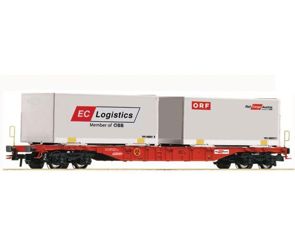 Roco 76933 Konténerszállító kocsi ORF/EC Logistics, Rail Cargo Austria, ÖBB VI