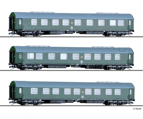 Tillig 01759 Személykocsi szett DR IV, Salonwagenzug 1.