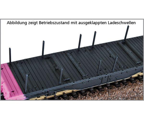 Tillig 15151 Pőrekocsi rakoncákkal Sgmmns 4505, acéloszlop-rakománnyal, ERR VI