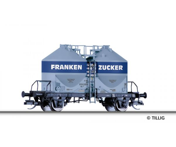 Tillig 17769 Silóskocsi Ucs 909 Frankenzucker GmbH der DB, Ep. IV