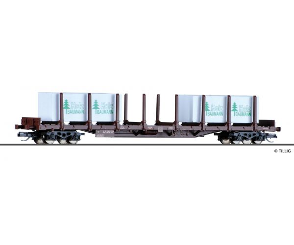 Tillig 18119 pörekocsi Ros Rail Cargo Wagon, Ep. VI