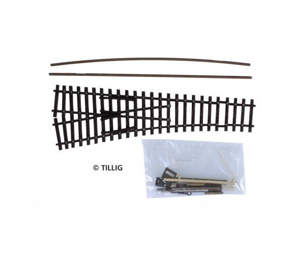 Tillig 8343 Építhető váltó, balos, EW1, 15, antikolt