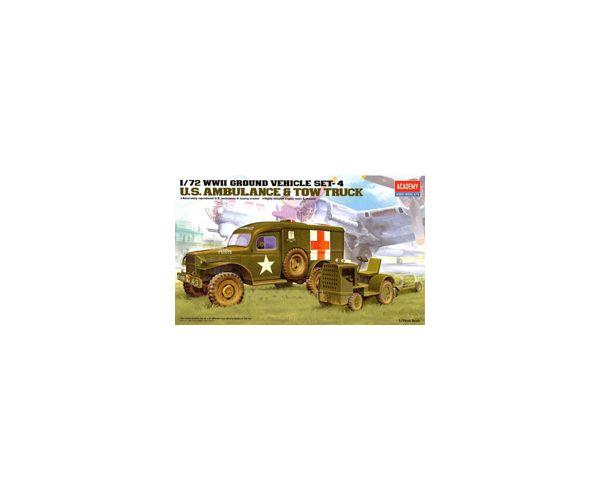 U.S. Ambulance & Tow Truck 1:72 Academy 13403