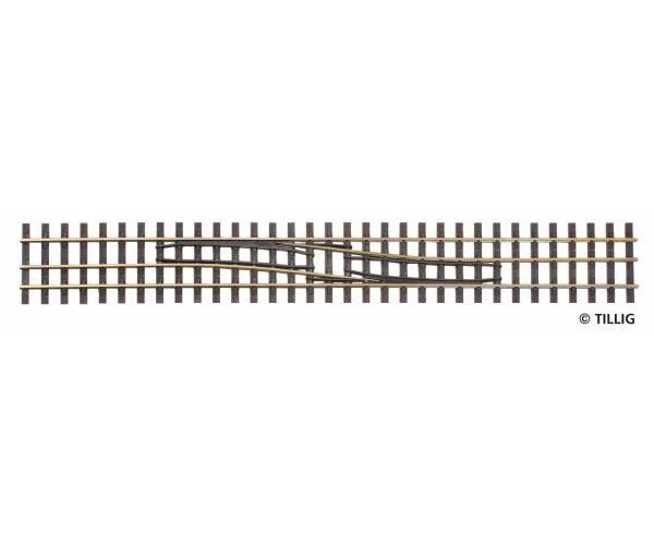Tillig 85185 Sínszáláttérés váltósín H0/H0e, balról jobbra