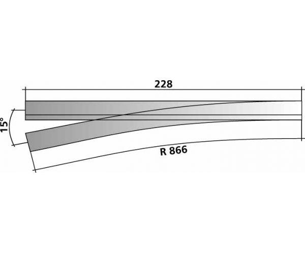 Tillig 85198 Vágányfonódott váltó H0-H0m bal 15