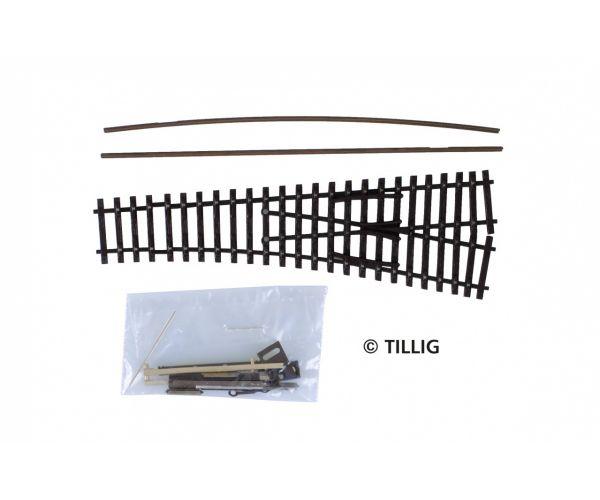 Tillig 83437 Építhető váltó jobbos EW1 15 antikolt