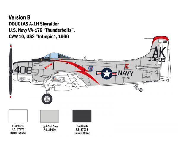 2788 Italeri A-1H Skyraider 1:48