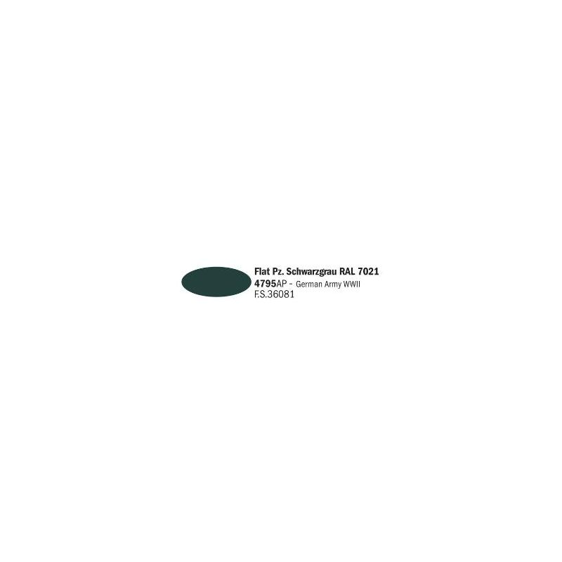 Italeri 4795AP matt Pz. Schwarzgrau RAL 7021 akril makett festék