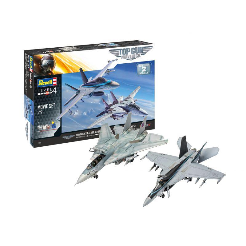 Revell 05677 Topg Gun Mavericks F/A 18 + F-14D Tomcat