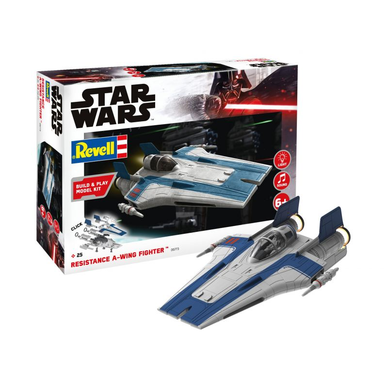 Revell 06773 SW Resistance A-wing Fighter blue 1:44
