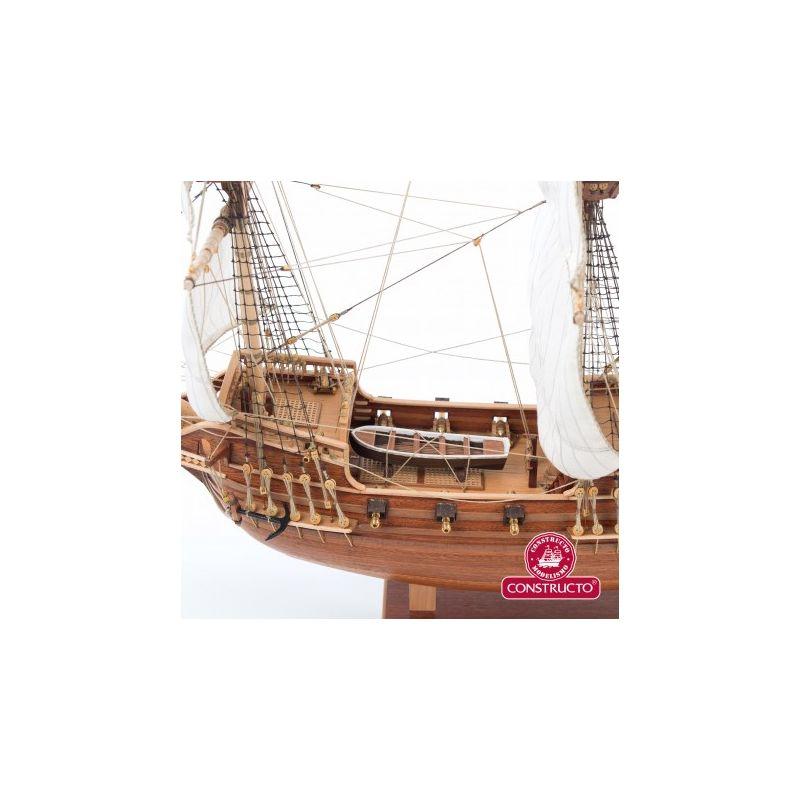 Golden Hind , fa hajó makett