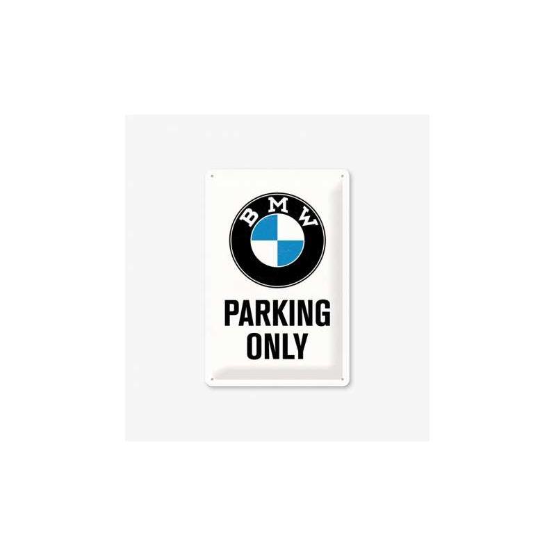 BMW - Parking Only fémtábla 30x40 cm