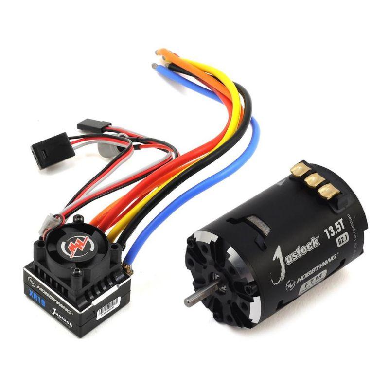 Hobbywing XR10 Justock Sensored Brushless ESC/SD G2.1 Motor Combo (13.5T)