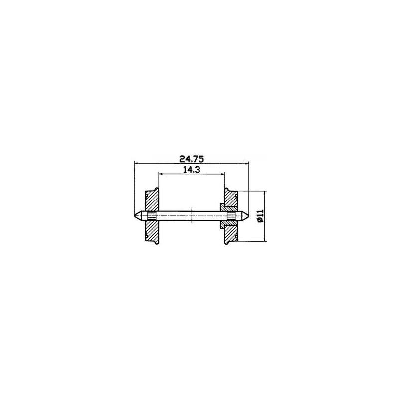 Roco 40199 Kerék kétoldalt szigetelt 11 mm 2 db