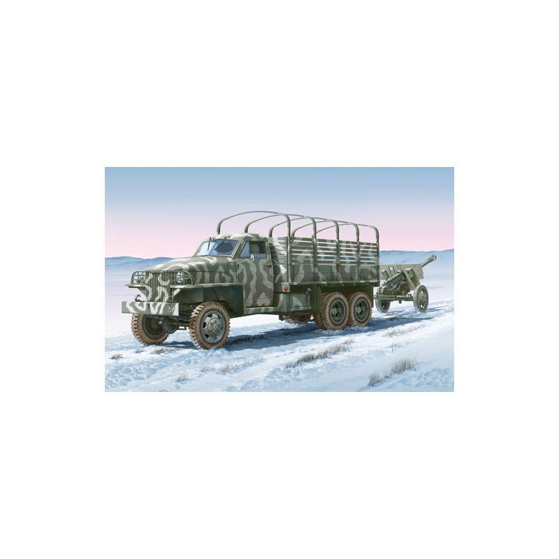 Italeri 6499 LAND LEASE Amerikai teherautó & ZIS-3