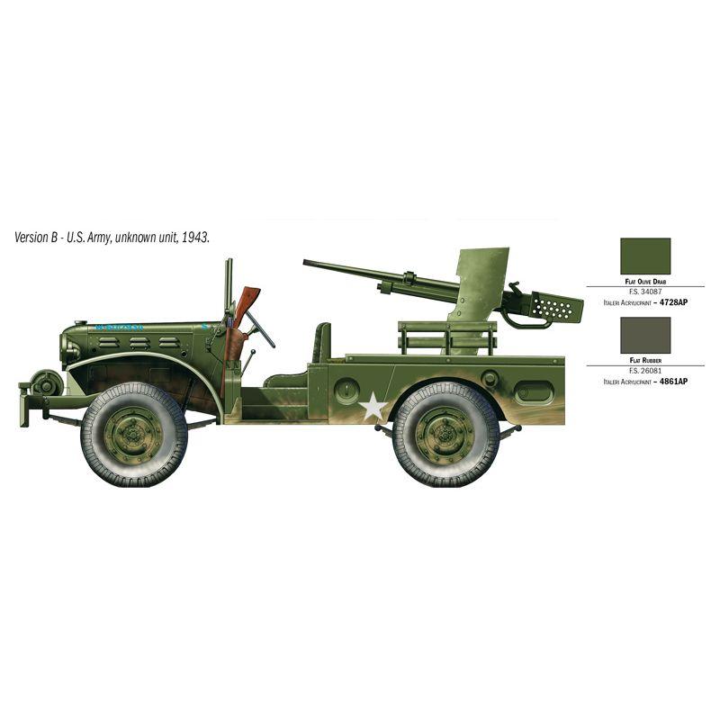 6555s Italeri WC-55 Dodge M6 gépágyúval 1:35