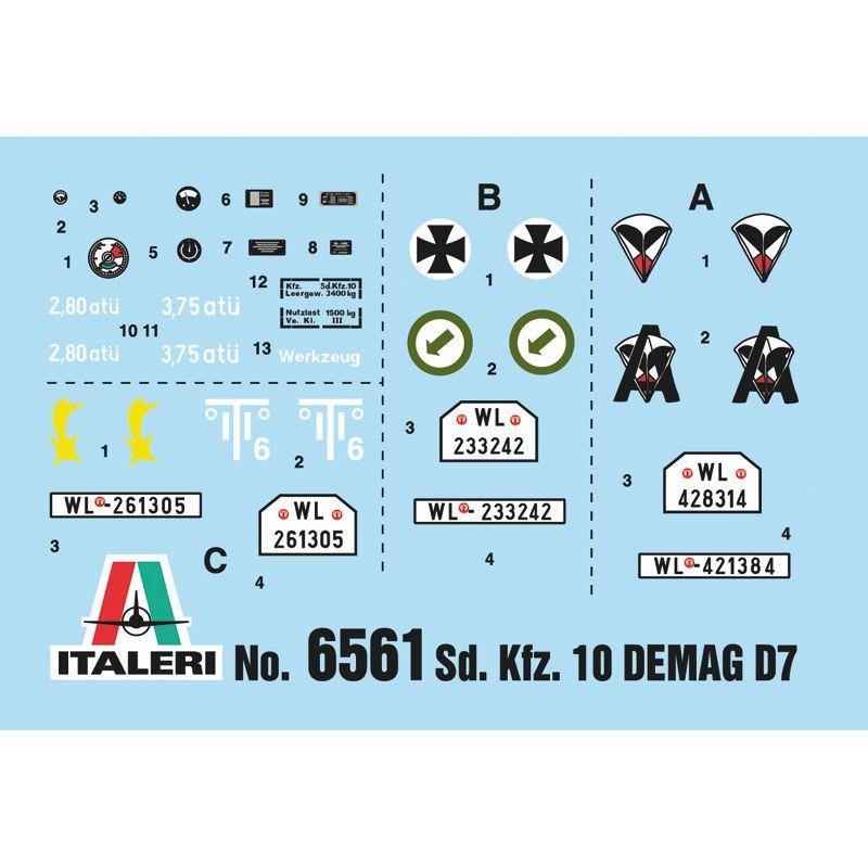 6561S ITALERI Sd.Kfz 10 DEMAG D07 Német ejtőernyősökkel 1/35