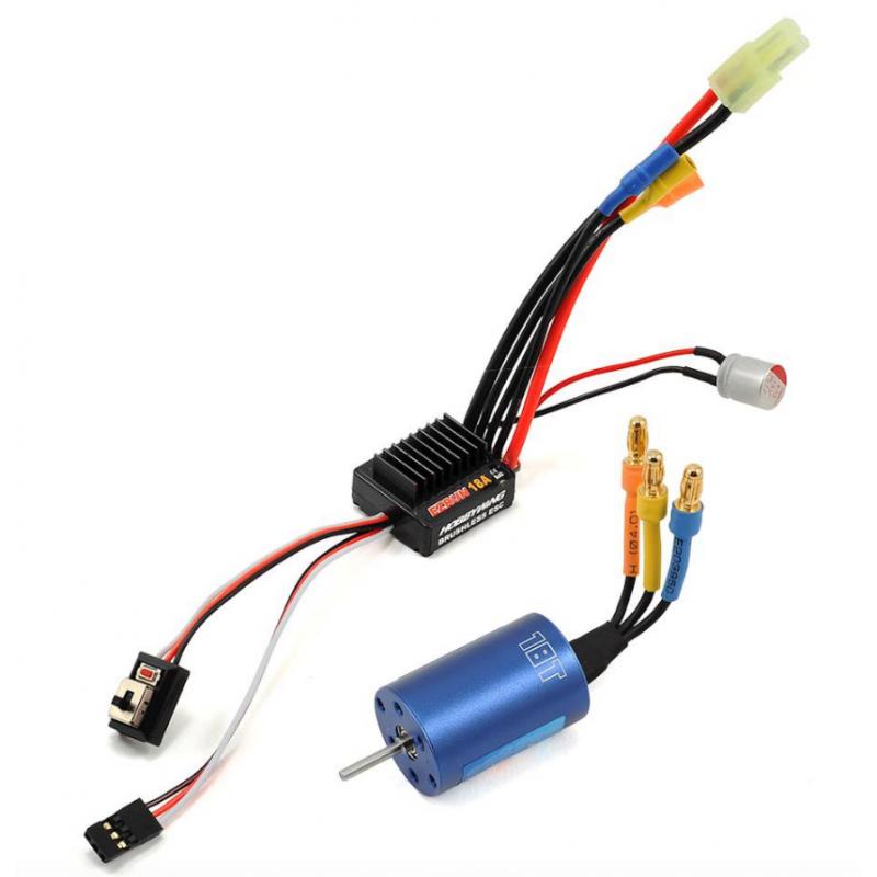 Hobbywing EZRun 18A Sensorless Brushless ESC/Motor Combo (18.0T/5200kV) + Programkártya