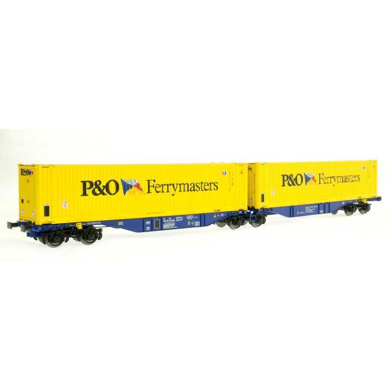 ACME 40289 Konténerszállító ikerkocsi Sggmrss, 90, P&O Ferrymasters V-VI, 2. pályaszám