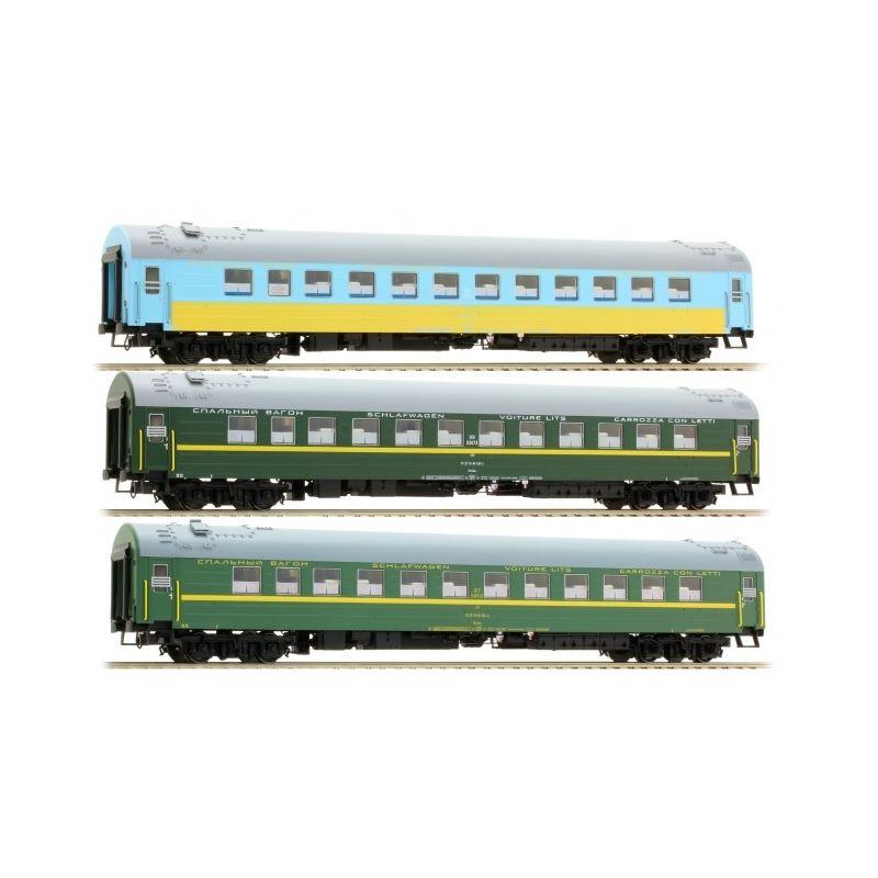 ACME 55136 Személykocsi szett Ost-West Express 2 Moskwa-Bruxelles RZD/UZ V