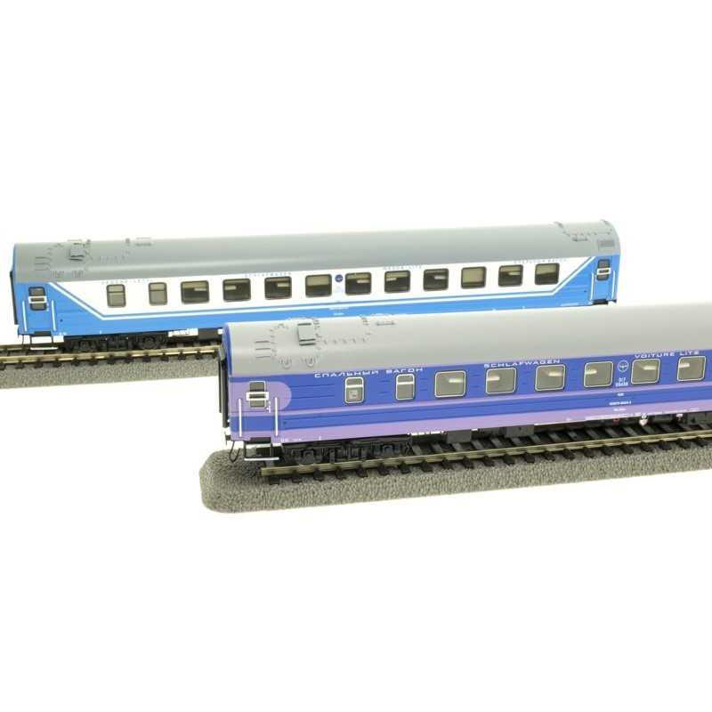 ACME 55152 Hálókocsi szett WLABm, Saratov Express, RZD V-VI
